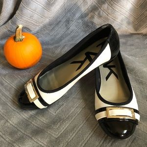 Anne Klein Sport Black and White Flats